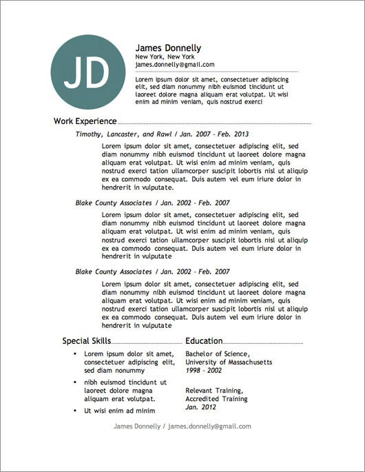 Free Resume Templates Microsoft 12 Resume Templates for Microsoft Word Free Download