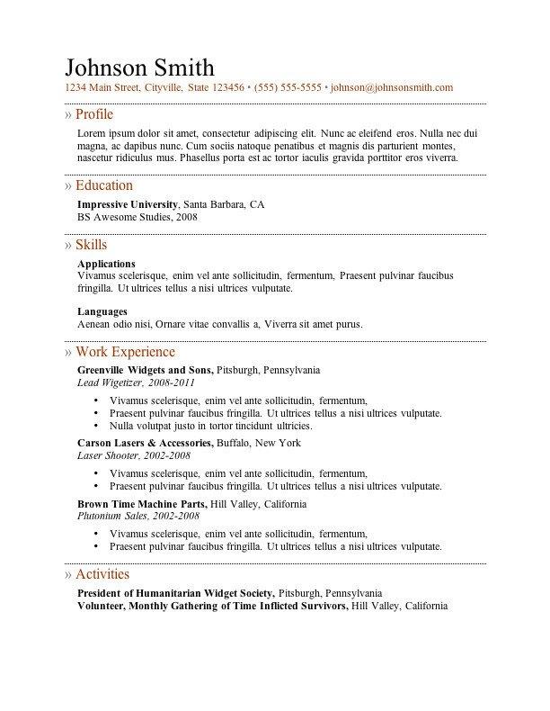 Free Resume Templates Microsoft 7 Free Resume Templates