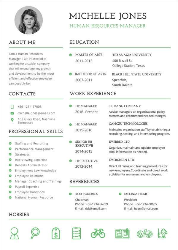 Free Resume Templates Pdf Resume Template 42 Free Word Excel Pdf Psd format