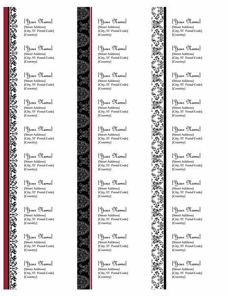 Free Return Label Template 23 Best Address Labels Free Address Label Templates