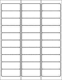 """Free Return Label Template Address Labels 30 Per Sheet 1 X 2 5 8 Ol875 2 625"""" X 1"""""""