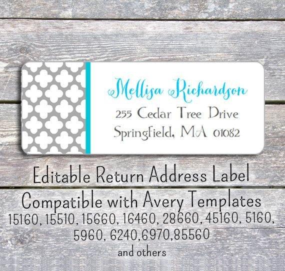 Free Return Label Template Editable Diy Printable Pdf Template Return Address Labels