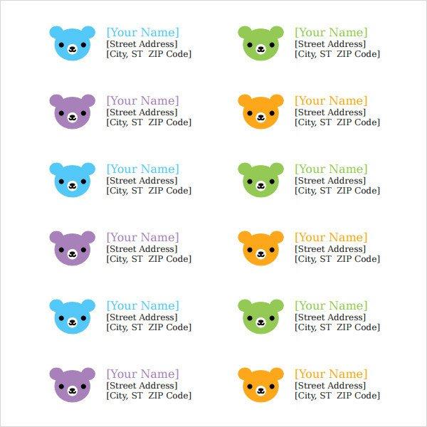 Free Return Label Template Return Address Label Template 8 Free and Premium