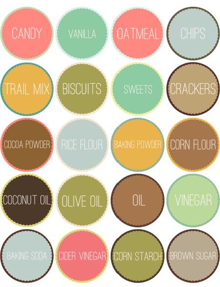 Free Round Label Templates Kitchen Pantry organizing Labels