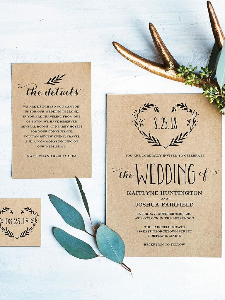 Free Rustic Wedding Invitation Templates 16 Printable Wedding Invitation Templates You Can Diy