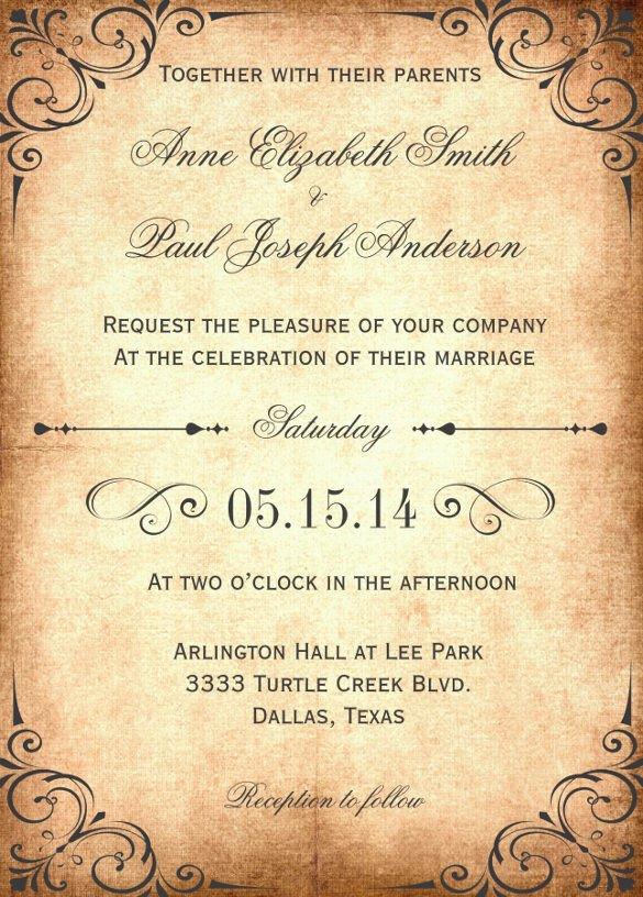 Free Rustic Wedding Invitation Templates 28 Wedding Invitation Wording Templates – Free Sample