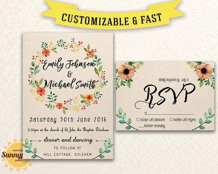 Free Rustic Wedding Invitation Templates Best 25 Free Invitation Templates Ideas On Pinterest