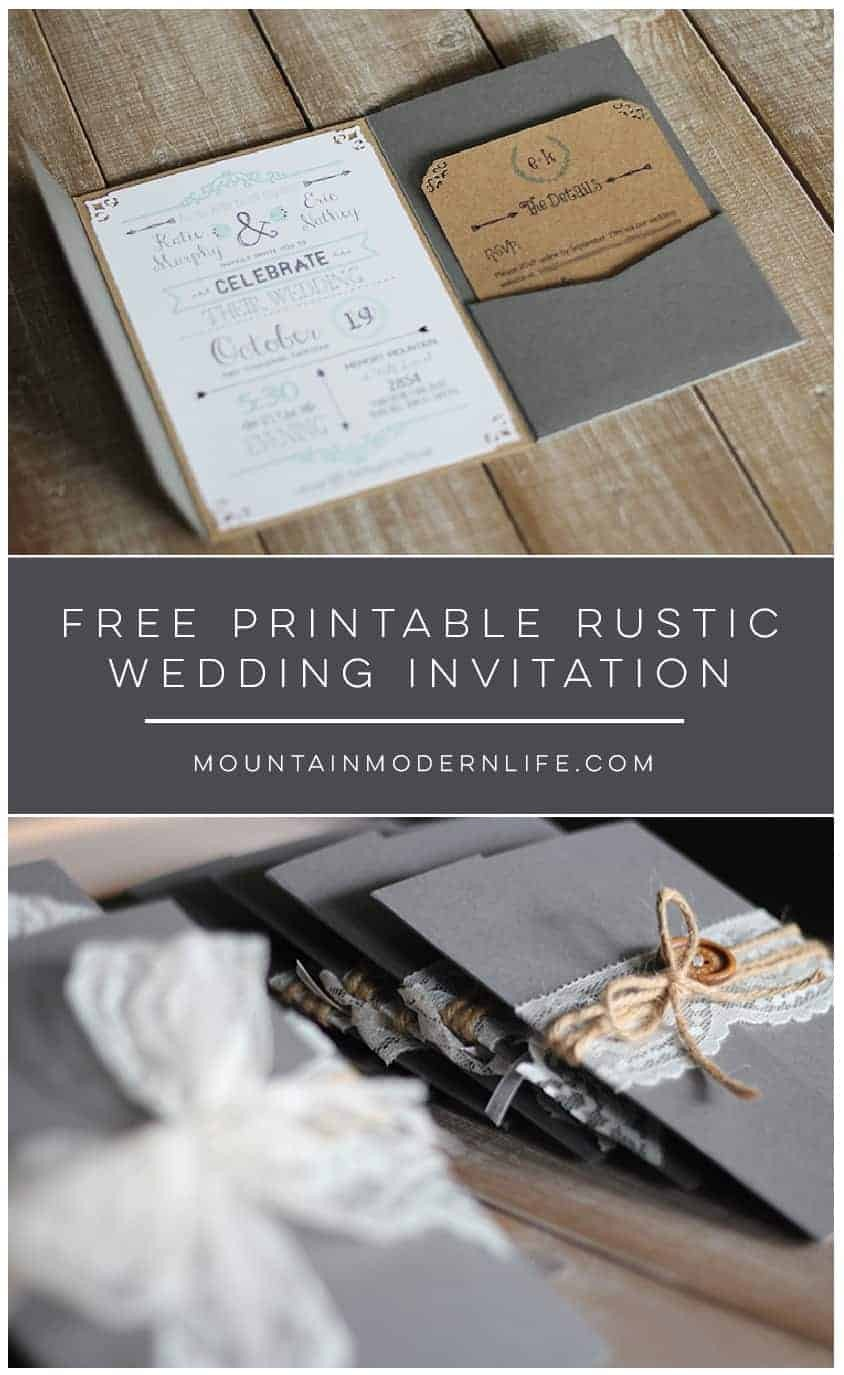 Free Rustic Wedding Invitation Templates Free Chalkboard Love Quote Printable