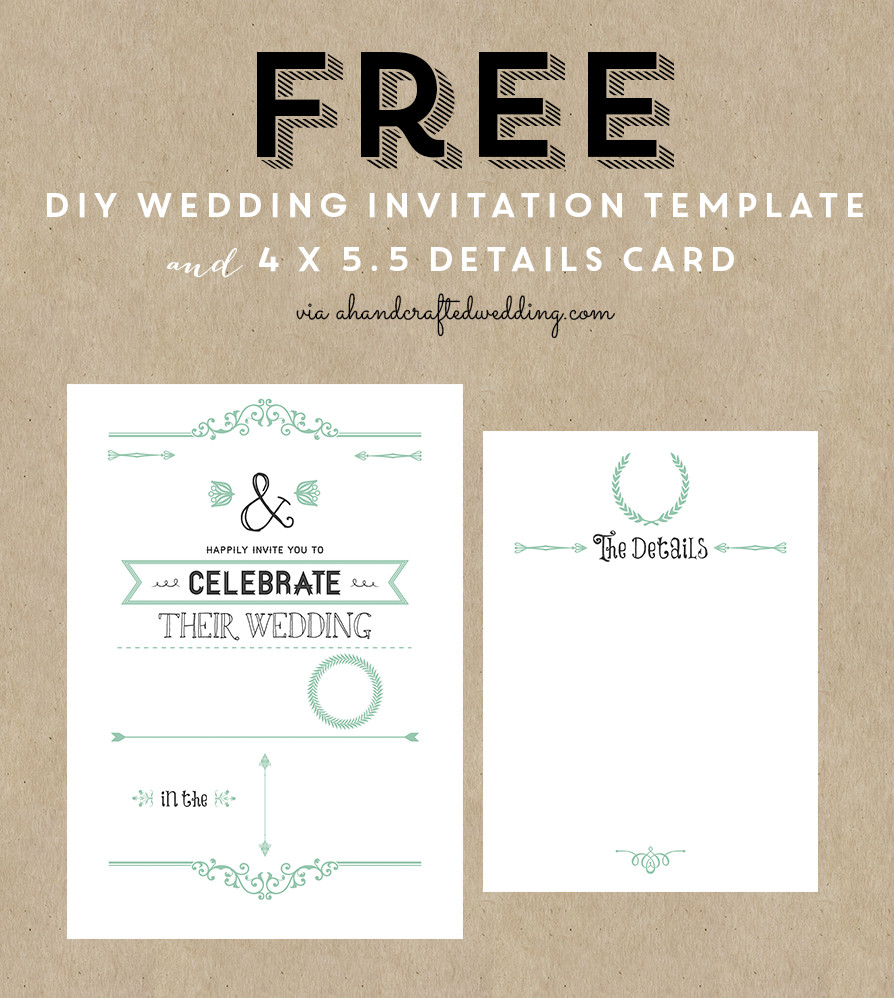 Free Rustic Wedding Invitation Templates Free Printable Wedding Invitation Template