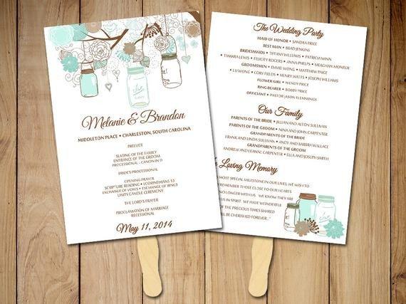 Free Rustic Wedding Program Templates Diy Wedding Program Fan Template Rustic Ceremony Program