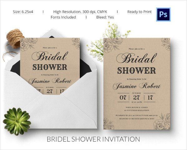 Free Shower Invitation Template 25 Bridal Shower Invitations Templates