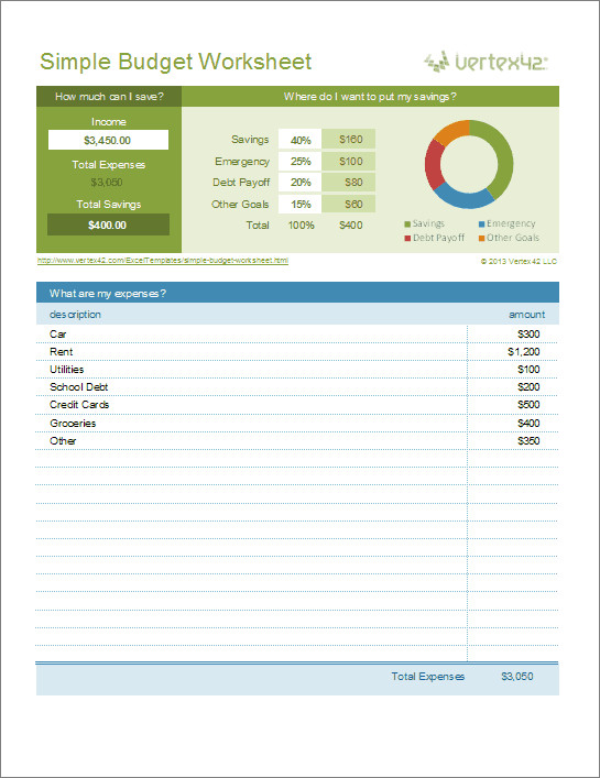 Free Simple Budget Template Free Excel Bud Template Collection for Business and
