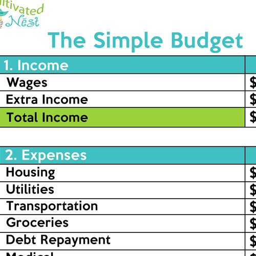 Free Simple Budget Template How to Make A Simple Bud