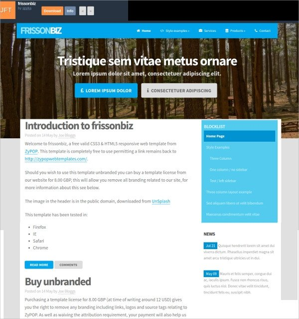 Free Simple Website Templates 14 Free Responsive HTML5 Website Templates & themes