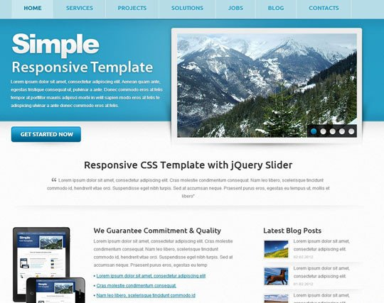 Free Simple Website Templates 41 totally Free Responsive HTML Css Website Templates