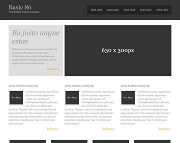 Free Simple Website Templates Basic 86 Free HTML5 Template HTML5 Templates