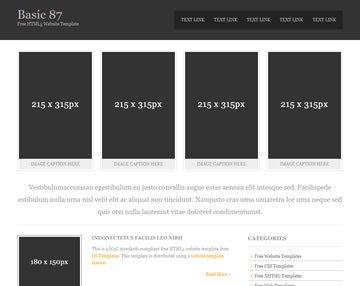 Free Simple Website Templates Basic 87 Free HTML5 Template HTML5 Templates