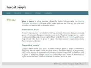 Free Simple Website Templates Keep It Simple Free Website Template