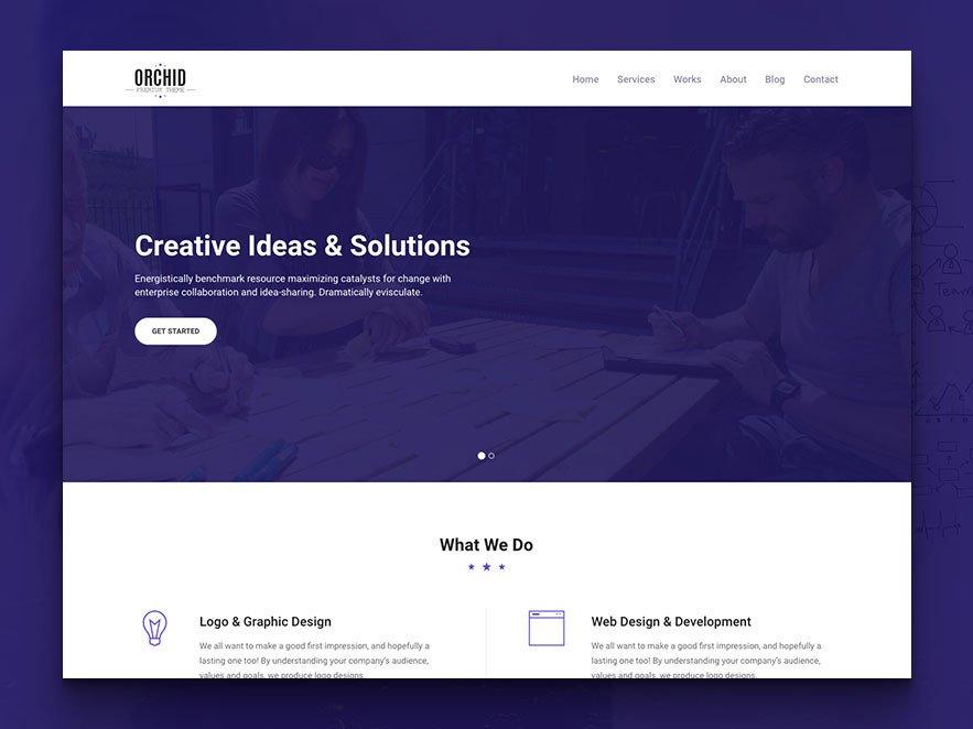 Free Simple Website Templates orchid Free HTML5 Business Simple Portfolio Website