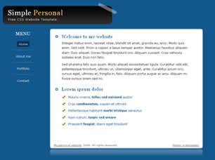 Free Simple Website Templates Simple Personal Free Website Template