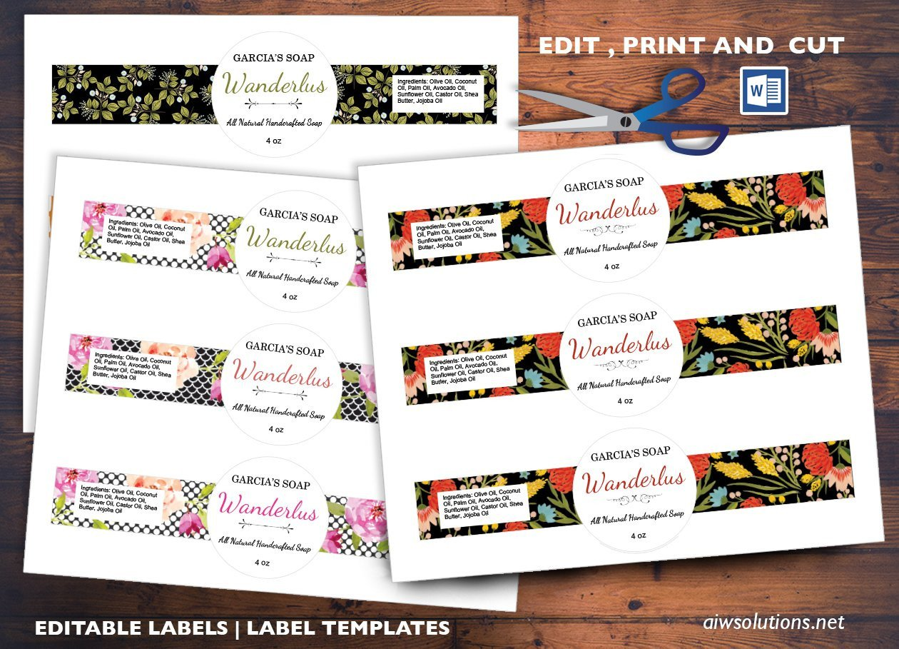 Free soap Label Templates Cigar Style Label Sticker Id04 Stationery Templates