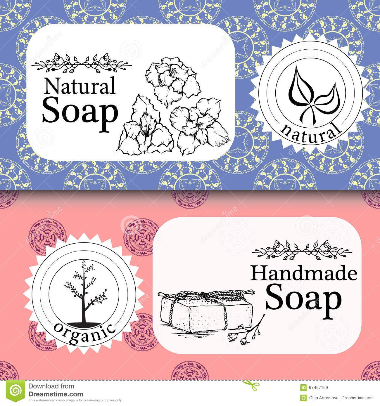 Free soap Label Templates Handmade soap Label Template