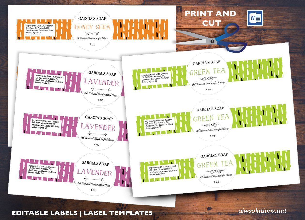 Free soap Label Templates Round Center soap Band Label Id03 Stationery Templates