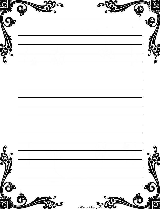 Cute Printable Notebook Paper Black And White