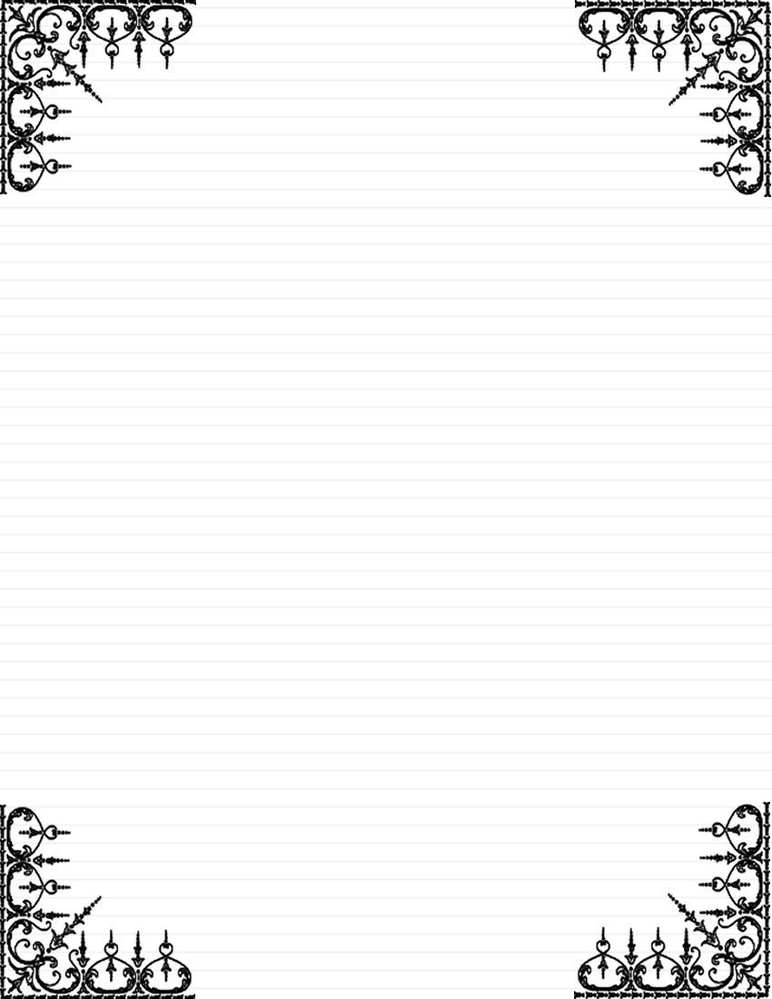 Free Stationery Paper Templates Day 5 Write A Note Card or Short Letter to A Loved One