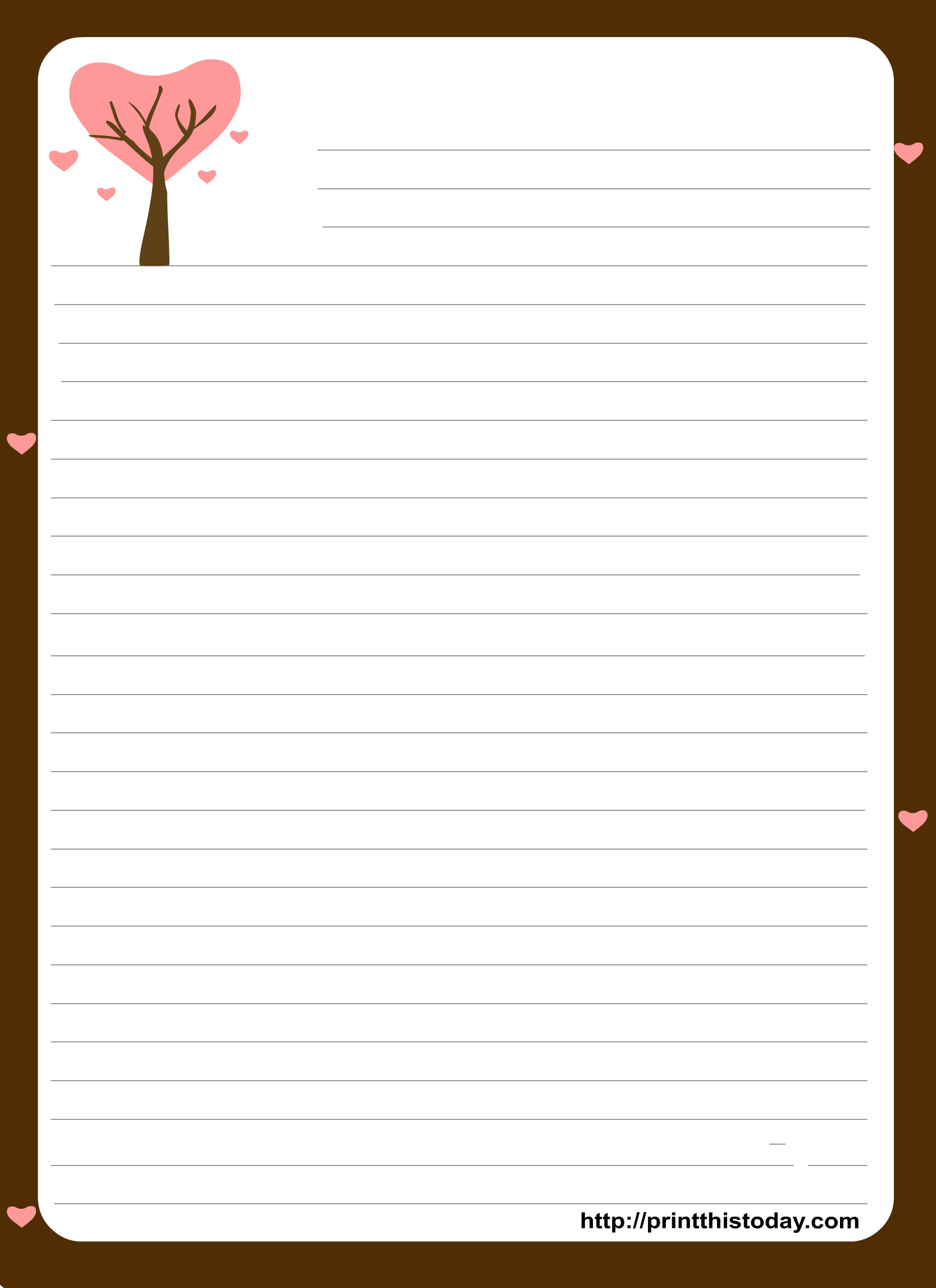 Free Stationery Paper Templates Free Printable Stationery Paper