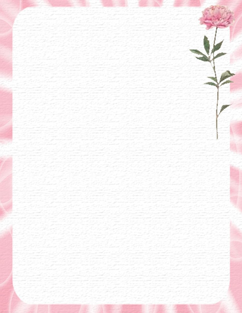 Free Stationery Paper Templates Stationary for Adults On Pinterest