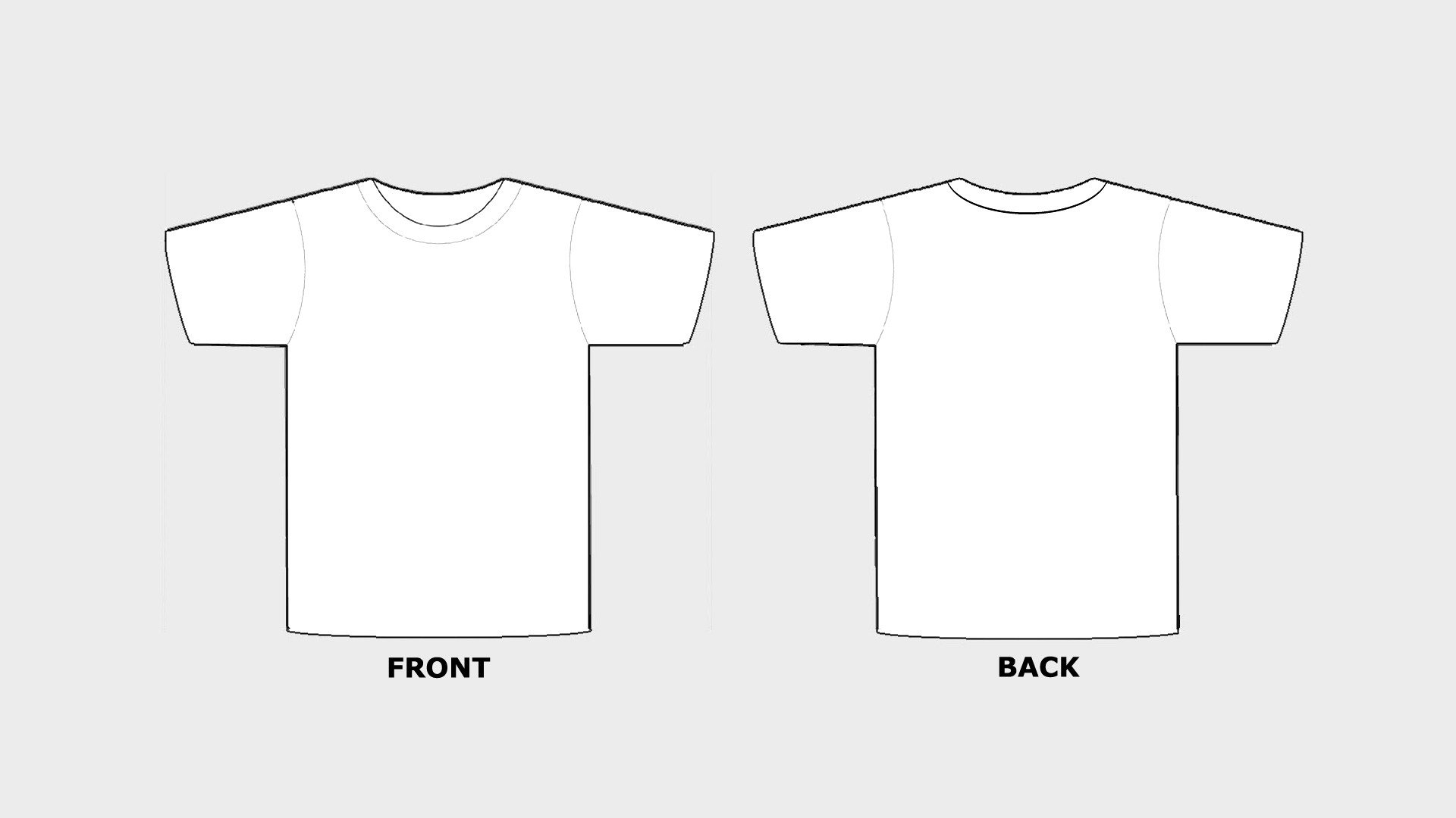 Blank Tshirt Template Printable in HD HD Wallpapers