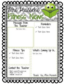 Free Teacher Newsletter Templates Classroom Newsletter Template Editable Freebie by Phys Ed