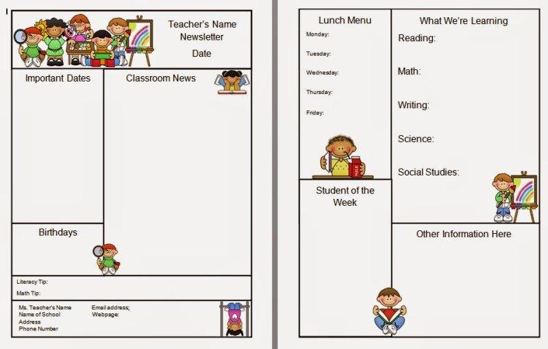 Free Teacher Newsletter Templates Warren Sparrow Classroom Newsletter Template
