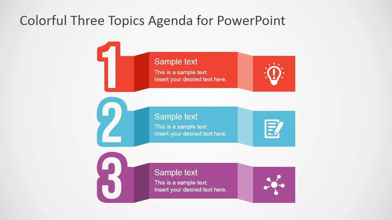 Free PowerPoint Template for Agenda Design SlideModel