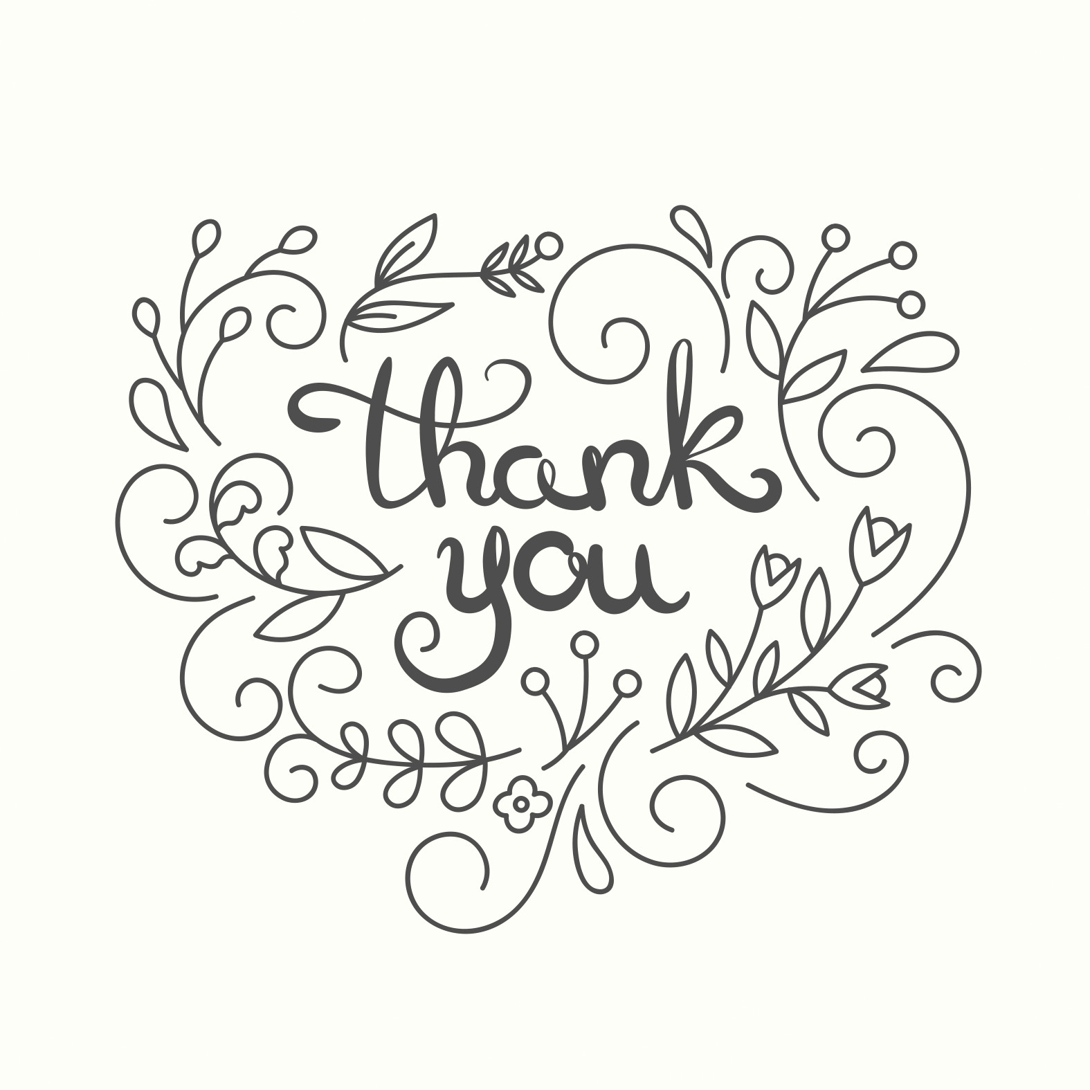 Free Thank You Card Template Simple Swirls Thank You Card Template Free