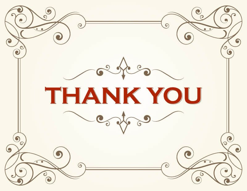 Free Thank You Card Template Thank You Card Template