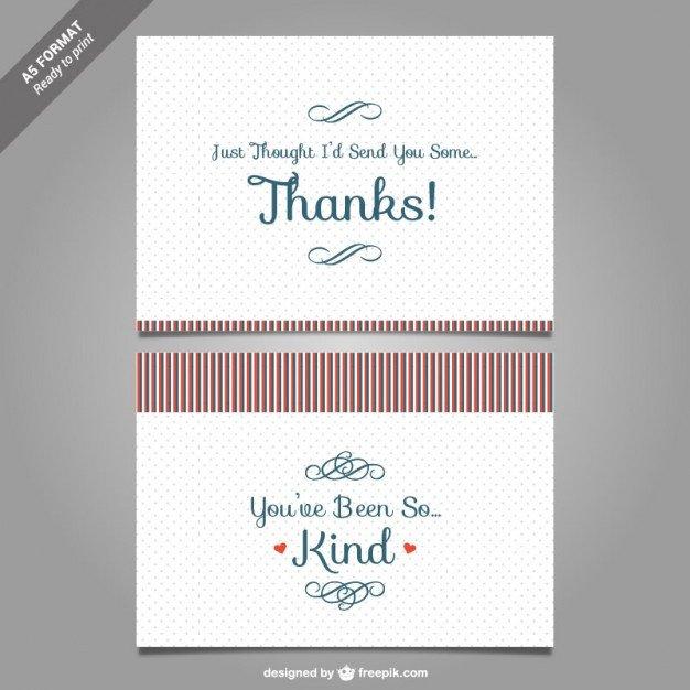 Free Thank You Card Template Thank You Card Template Vector Vector
