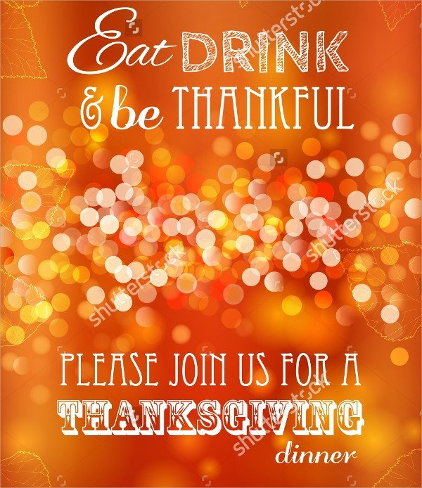Free Thanksgiving Invitation Templates 27 Sample Thanksgiving Invitations Psd Vector Eps