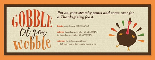 Free Thanksgiving Invitation Templates Free Line Thanksgiving Dinner Invitations