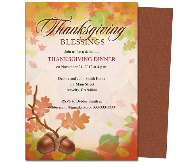 Free Thanksgiving Invitation Templates Free Thanksgiving Invitations Email