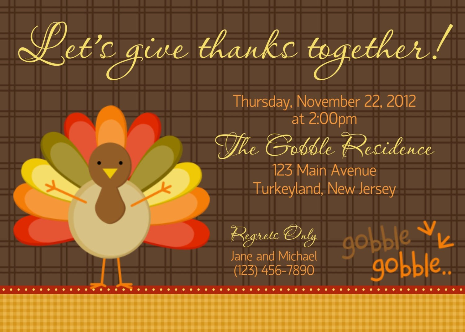 Free Thanksgiving Invitation Templates Gobble Gobble Thanksgiving Invitation by Afairytalebeginning