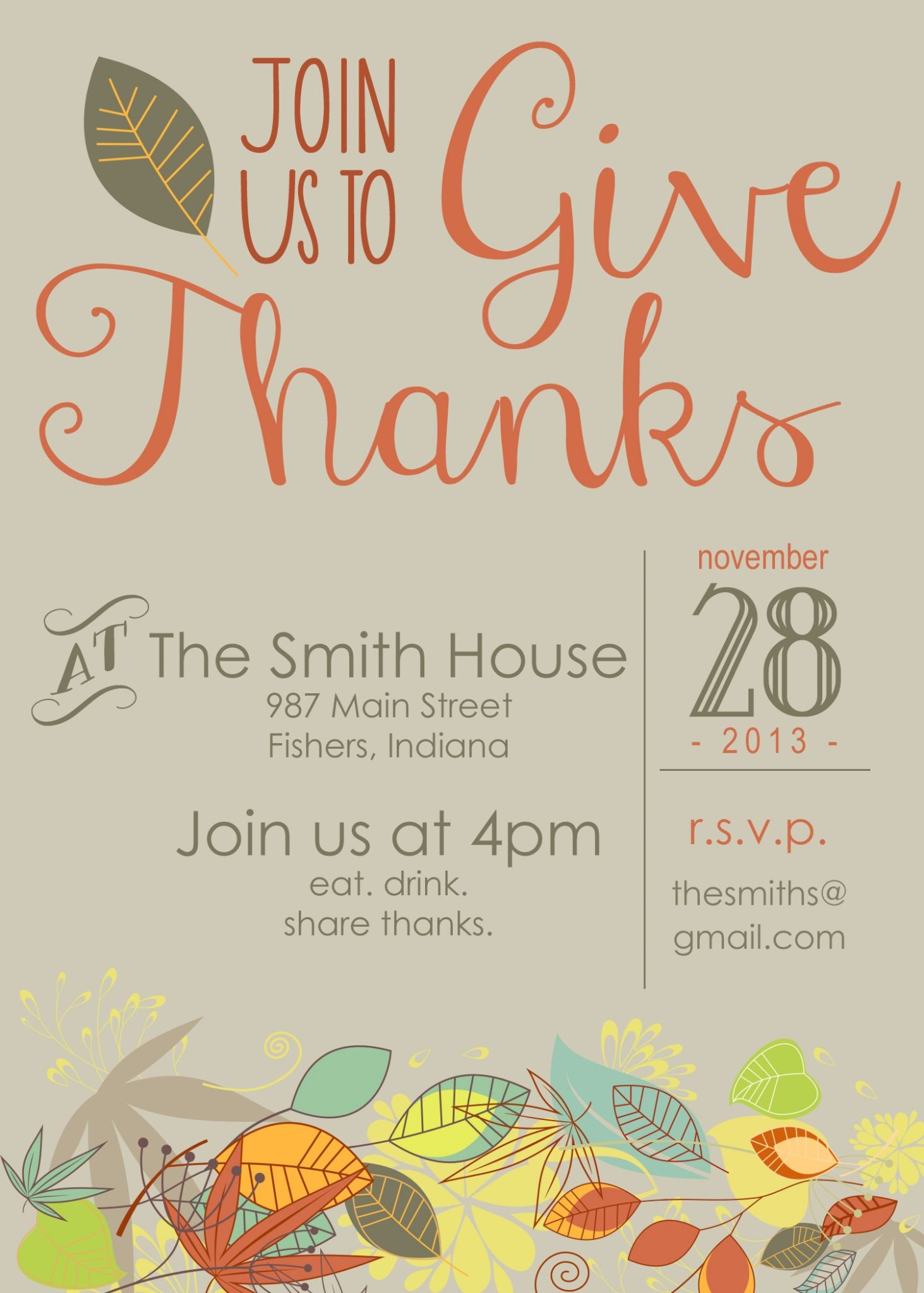 Free Thanksgiving Invitation Templates Printable Thanksgiving Invitation Moritz Fine Designs