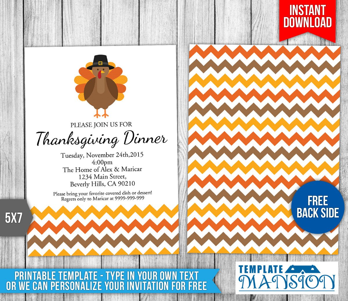 Free Thanksgiving Invitation Templates Thanksgiving Invitation Template 1 by Templatemansion On