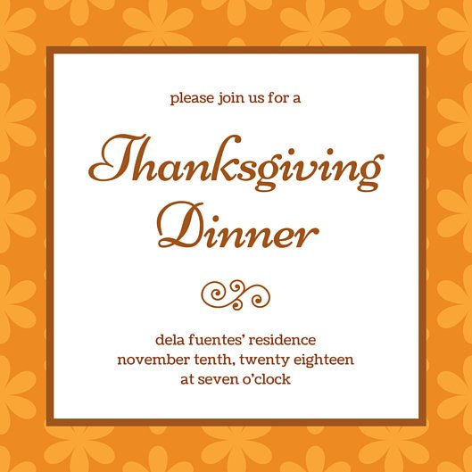 Free Thanksgiving Invitation Templates Thanksgiving Invitation Templates Canva