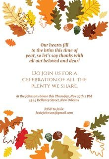 Free Thanksgiving Invitation Templates Thanksgiving Invitation Templates Free