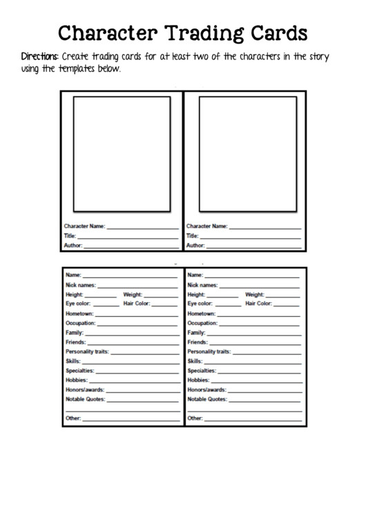 Free Trading Card Template 2 Trading Card Templates Free to In Pdf