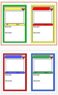 Free Trading Card Template Printable Trading Card Template
