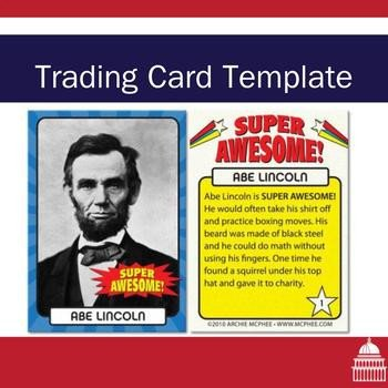 Free Trading Card Template Trading Card Template by Not Another History Teacher