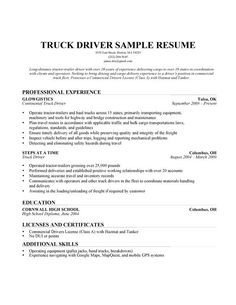 Free Truck Driver Application Template Truck Driver Resume Example